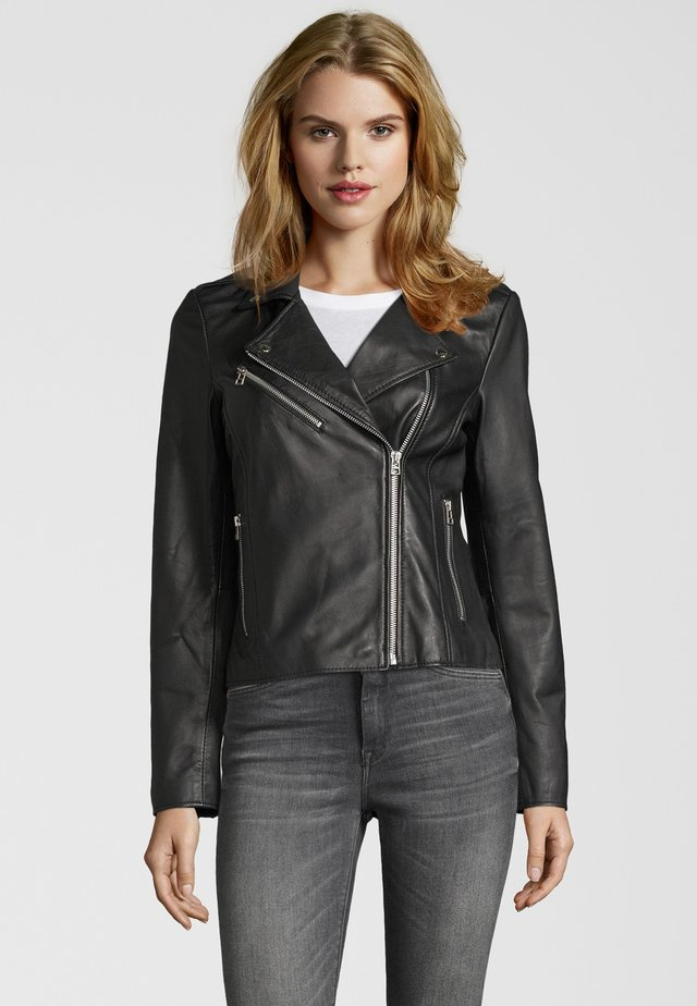 JULIA BIKER - Leather jacket - black