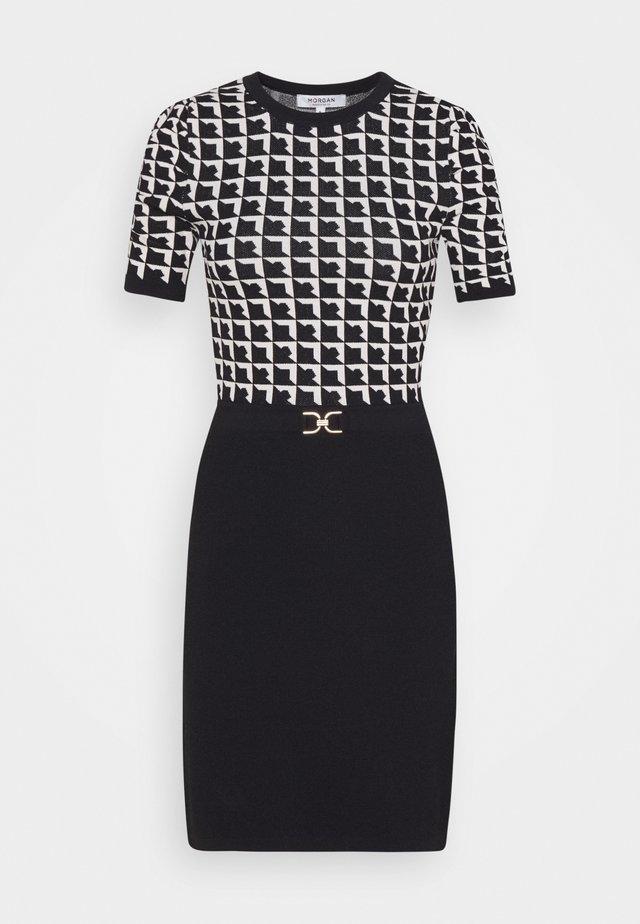 Pouzdrové šaty - noir/offwhite