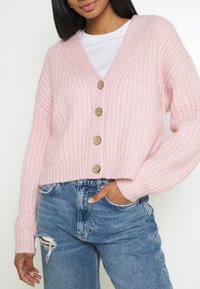 YAS - YASSUDANA CARDIGAN - Cardigan - chalk pink melange - 5