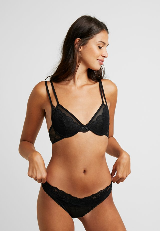CINDY UNDERWIRE BRALETTE - Soutien-gorge triangle - black