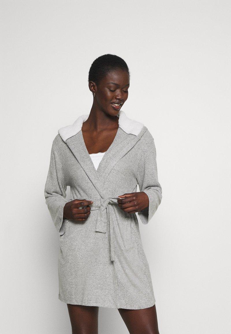 Anna Field - RIBBED BATHROBE - Dressing gown - grey