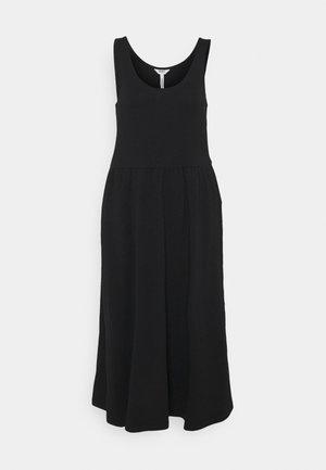 OBJSTEPHANIE MIDI DRESS - Žerzejové šaty - black