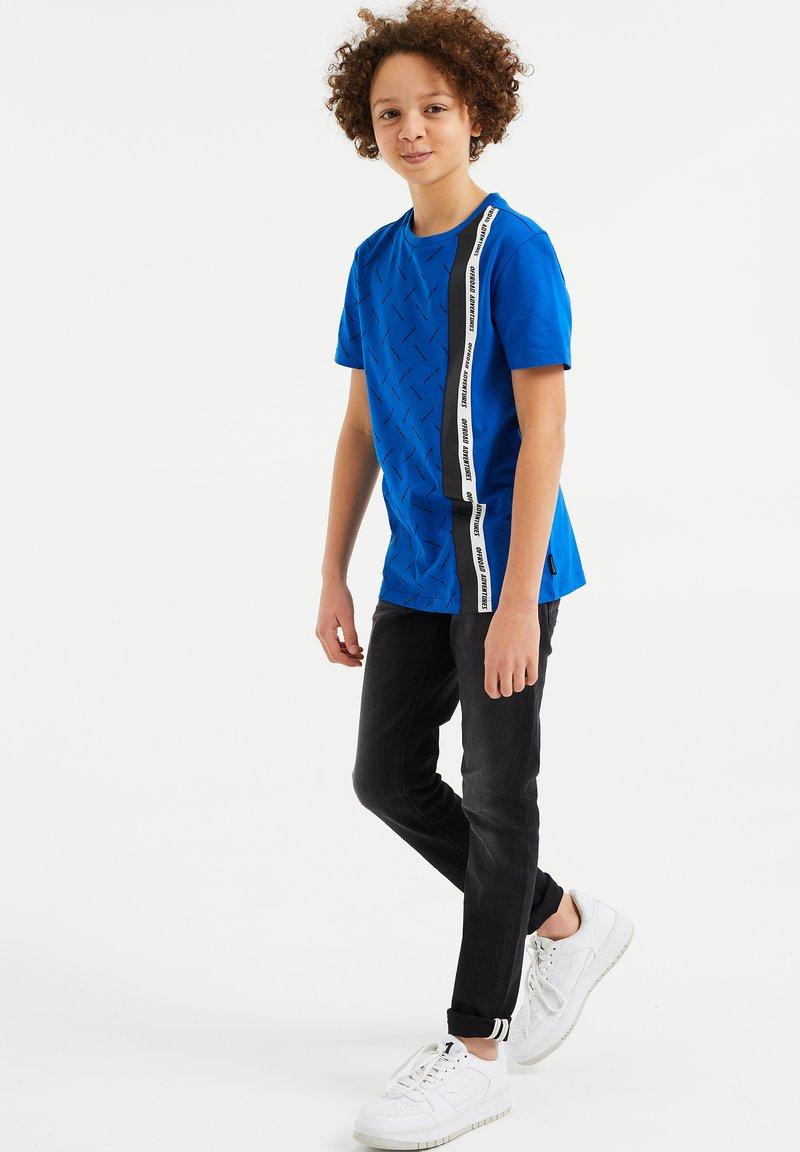WE Fashion - Print T-shirt - bright blue