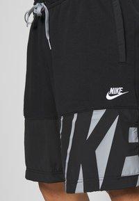 Nike Sportswear - Shorts - black/particle grey/white - 4