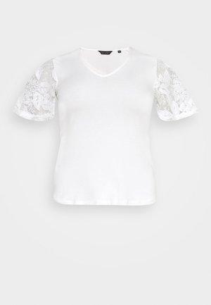 CURVE SLEEVE TOP - Print T-shirt - ivory