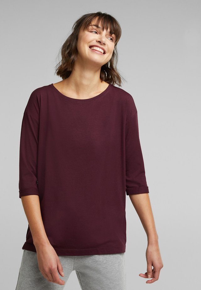 MIT BIO-BAUMWOLLE - Long sleeved top - bordeaux red