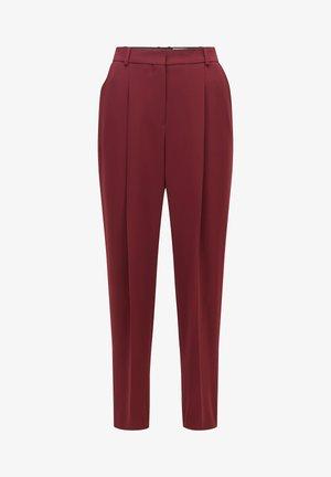 Pantalon classique - dark red