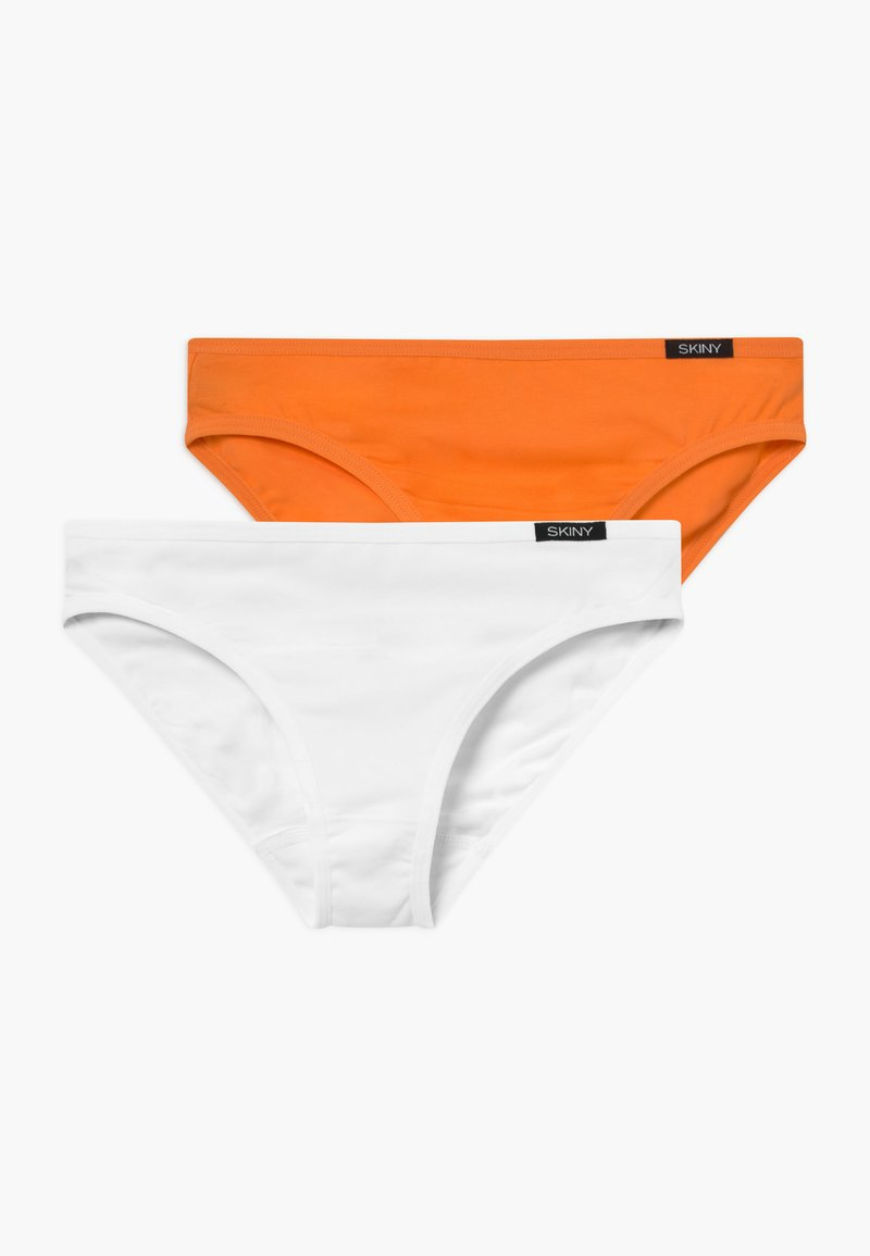 Skiny - ESSENTIALS GIRLS RIO 2 PACK - Kalhotky - orange/white