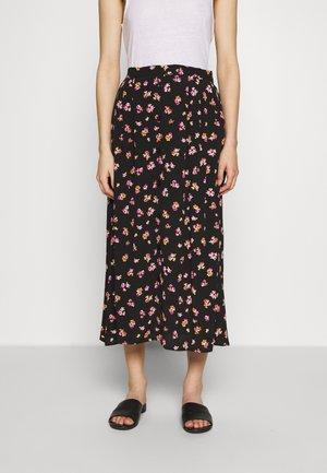 GITLA SKIRT - A-line skirt - black/pink