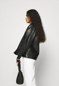 Selected Femme - SLFVERA  O NECK JACKET - Leather jacket - black - 4