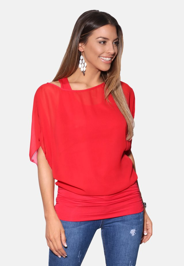 OVERSIZE 2 PIECE - Blouse - red