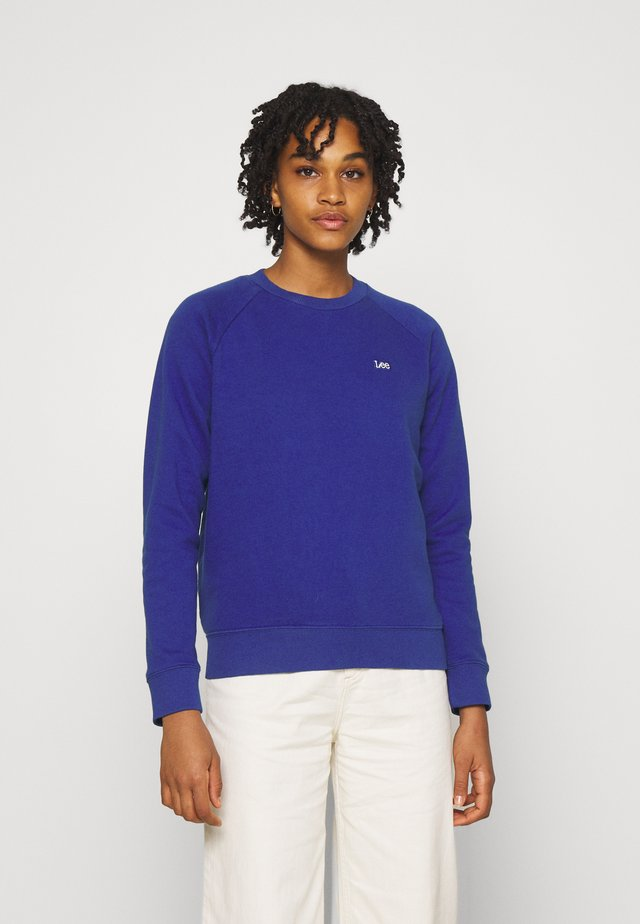 PLAIN CREW NECK - Bluza - surf blue