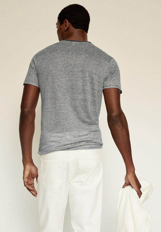 RAYURES - Print T-shirt - gris chiné moyen