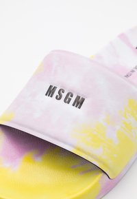 MSGM - CIABATTA DONNA WOMANS SLIDE - Mules - pink/yellow - 4
