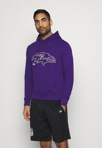 Fanatics - NFL BALTIMORE RAVENS GLOW CORE GRAPHIC HOODIE - Club wear - purple - 0