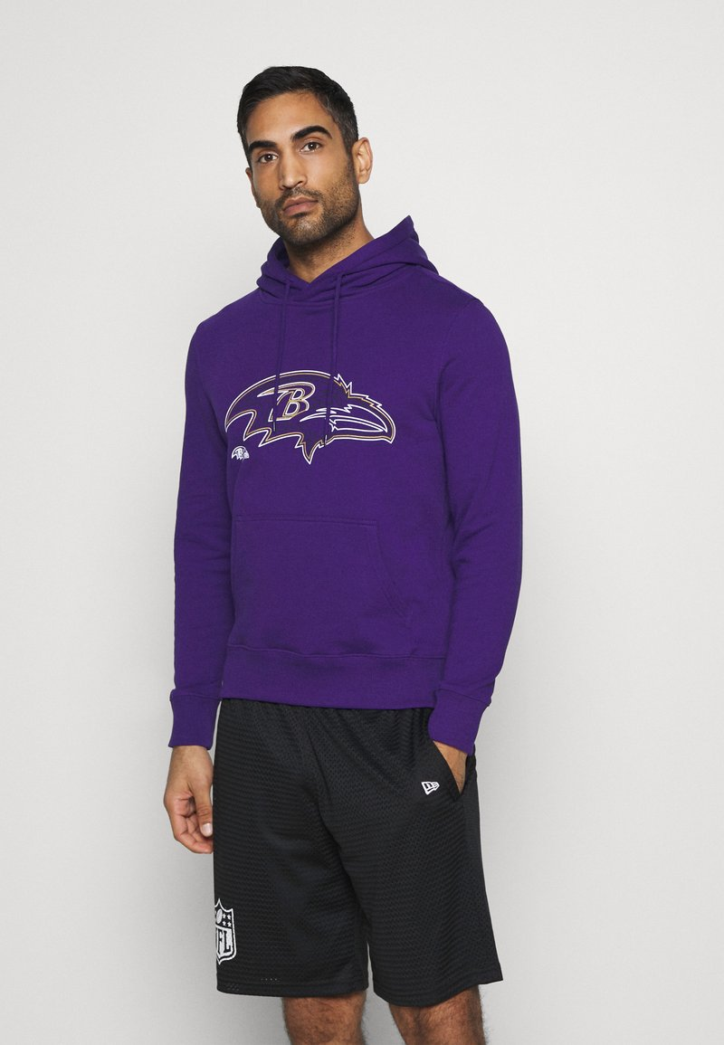 Fanatics - NFL BALTIMORE RAVENS GLOW CORE GRAPHIC HOODIE - Club wear - purple