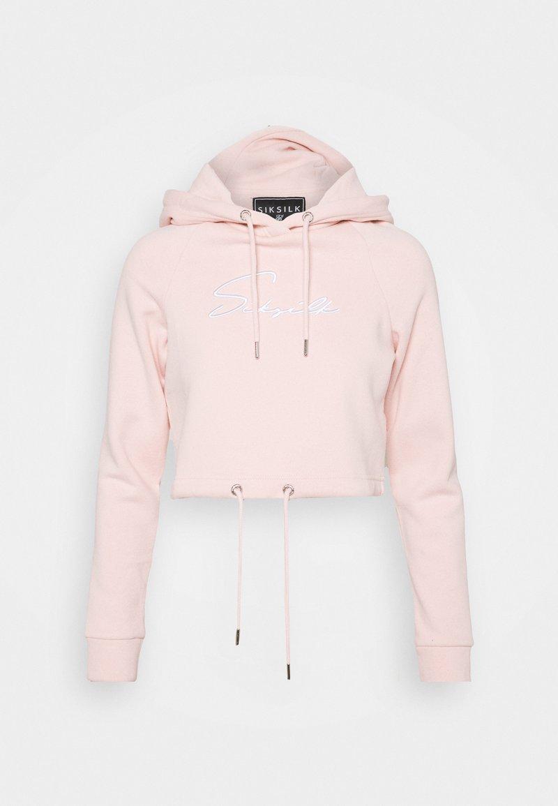 SIKSILK - ESSENTIAL CROPPED HOOD - Sweatshirt - pink