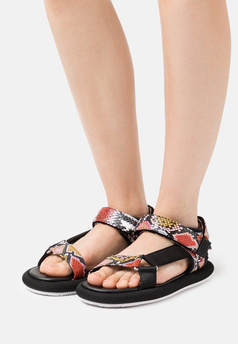 Tommy Jeans - PRINT SPORTY - Sandals - black
