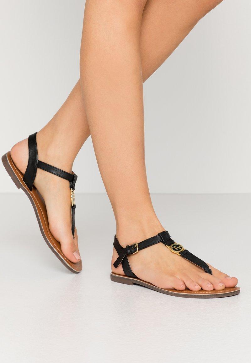 TOM TAILOR - T-bar sandals - black