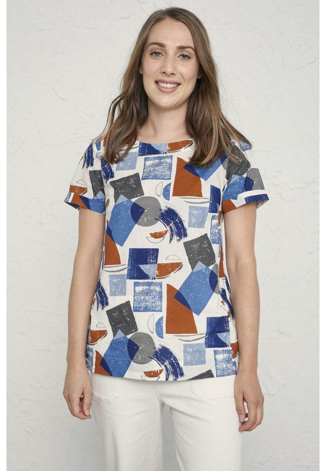 PEBBLE ART - T-shirt print - blue