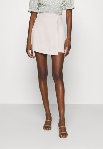 TAILORING  - Mini skirt - cream