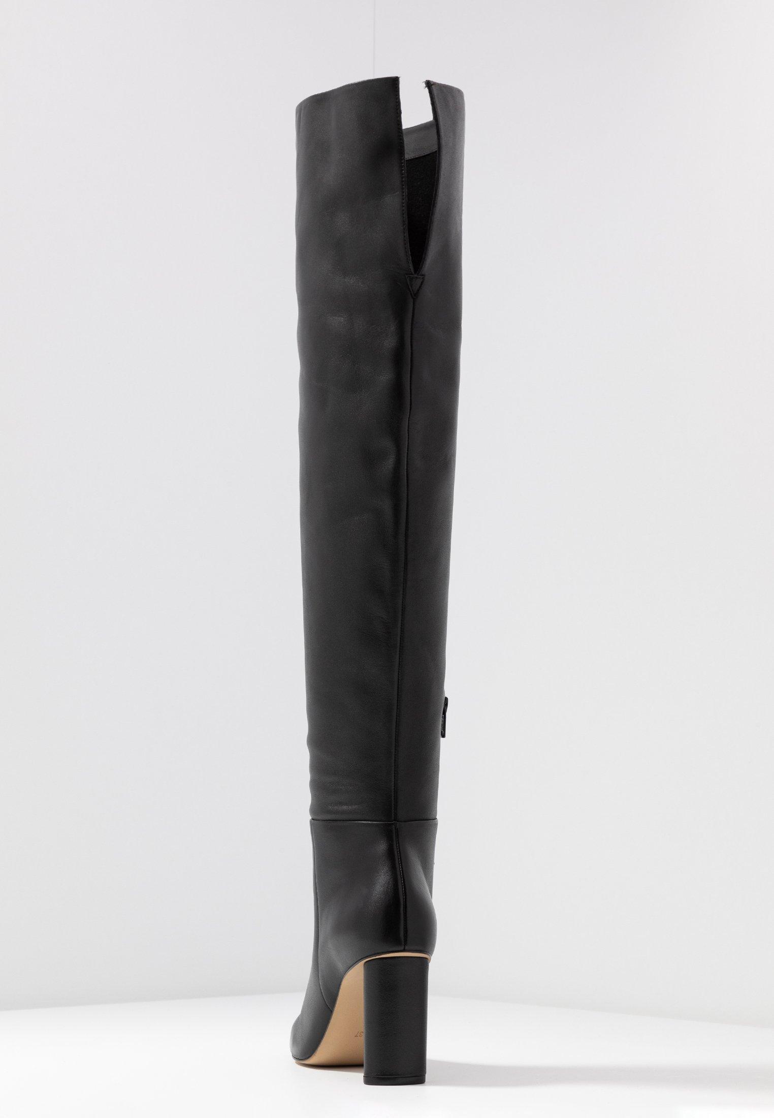 Overknee laarzen black
