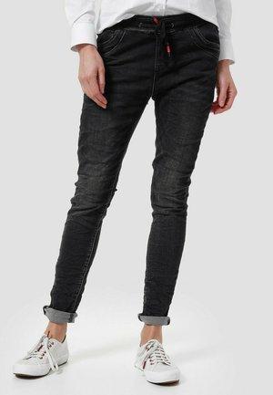 Slim fit jeans - schwarzer denim
