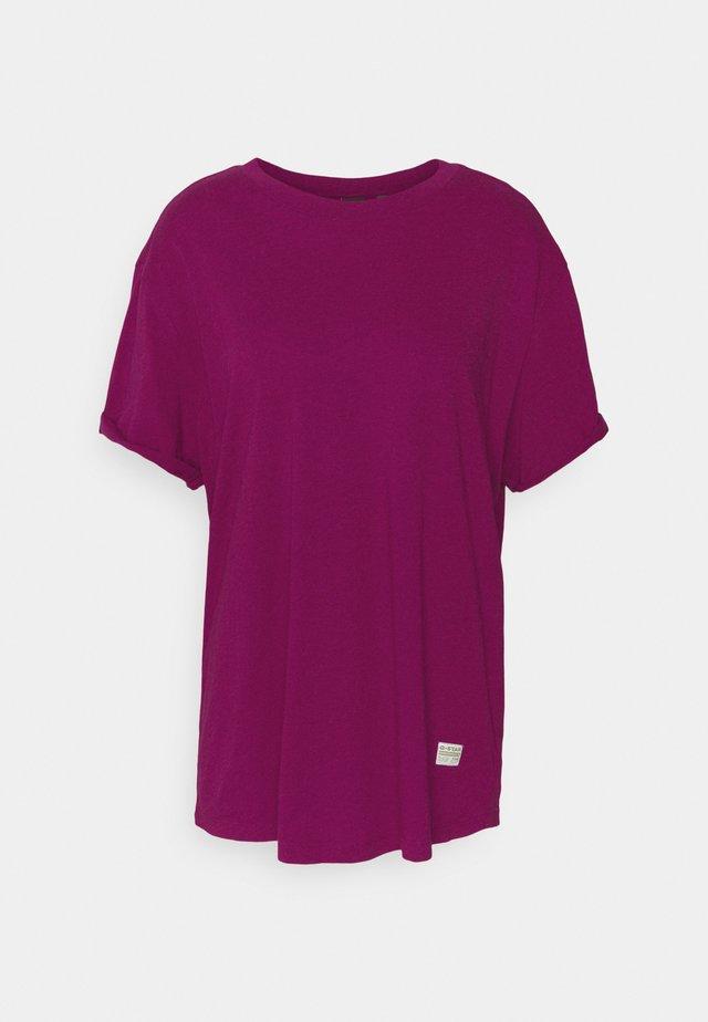 LASH FEM LOOSE R T WMN S\S - Print T-shirt - dark finch heather