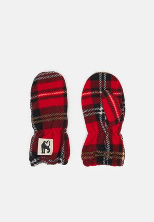 CHECK MITTENS UNISEX - Manoplas - red