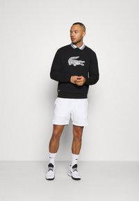 Lacoste Sport - BLIND CROCO - Sweatshirt - black/flour - 1