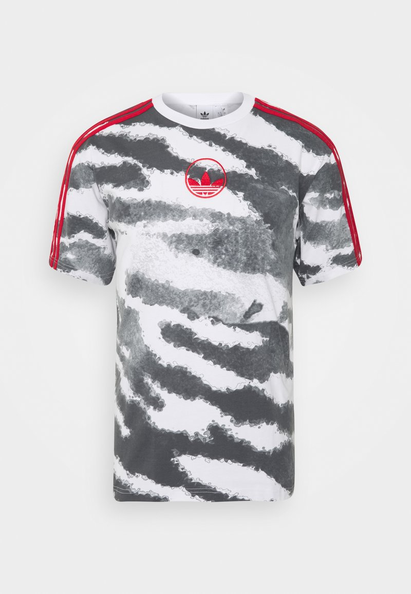 adidas Originals - ZEBRA - Print T-shirt - white