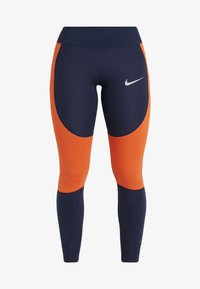 Nike Performance - EPIC LUX - Tights - obsidian/team orange/silver - 8