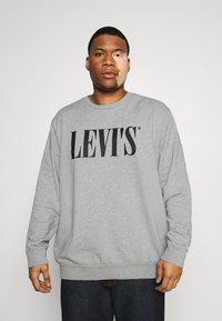 Levi's® Plus - BIG CREW SEASONAL - Sweatshirt - midtone heather grey - 0