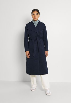 VIPOKU BELTED LONG COAT - Cappotto classico - navy