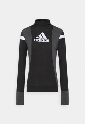 BLOCK RESPONSE AEROREADY - Treningsskjorter - black/grey six