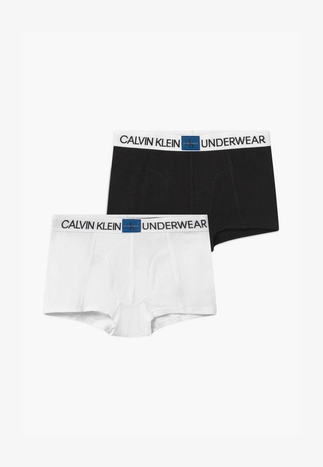 2 PACK - Pants - white/black