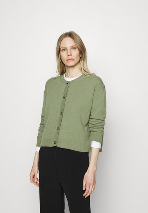 ROUND NECK - Cardigan - dried sage
