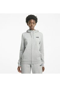 Puma - Zip-up hoodie - light gray heather - 0