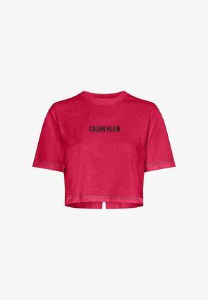 OPEN BACK CROPPED - T-shirt imprimé - city pink