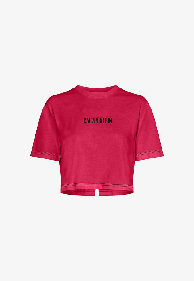 OPEN BACK CROPPED - T-shirt print - city pink