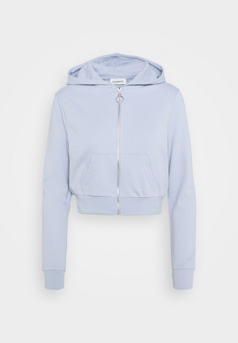 Even&Odd - CROPPED SLIM FIT HOODIE  - Hettejakke - blue