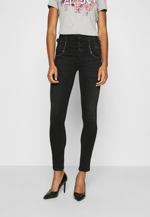 RAMPY - Slim fit jeans - black denim