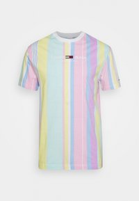 Tommy Jeans - STRIPE TEE - Printtipaita - romantic pink - 5