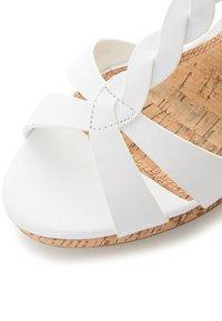 Dune London - KOALA - Wedge sandals - white - 2