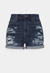 CURVY  SHORTIE - Denim shorts - dark indigo