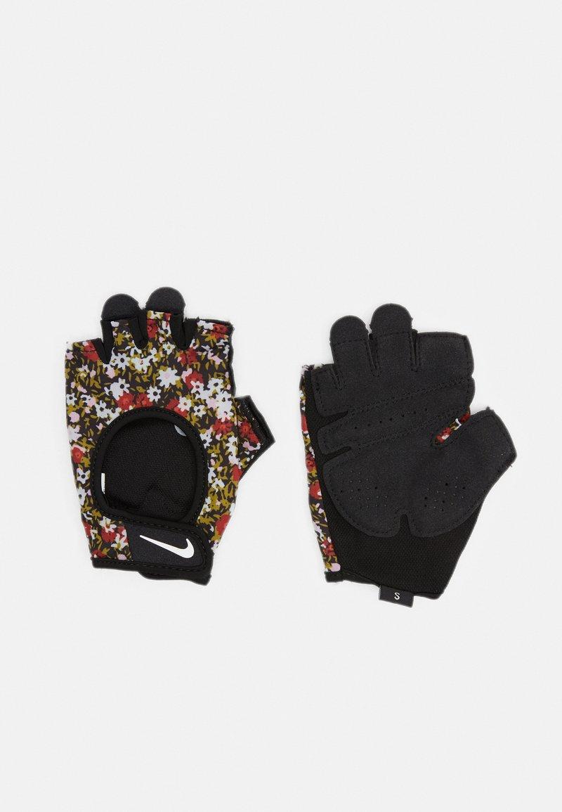 Nike Performance - WOMENS GYM ULTIMATE FITNESS GLOVES - Fingerless gloves - firewood orange/black/white