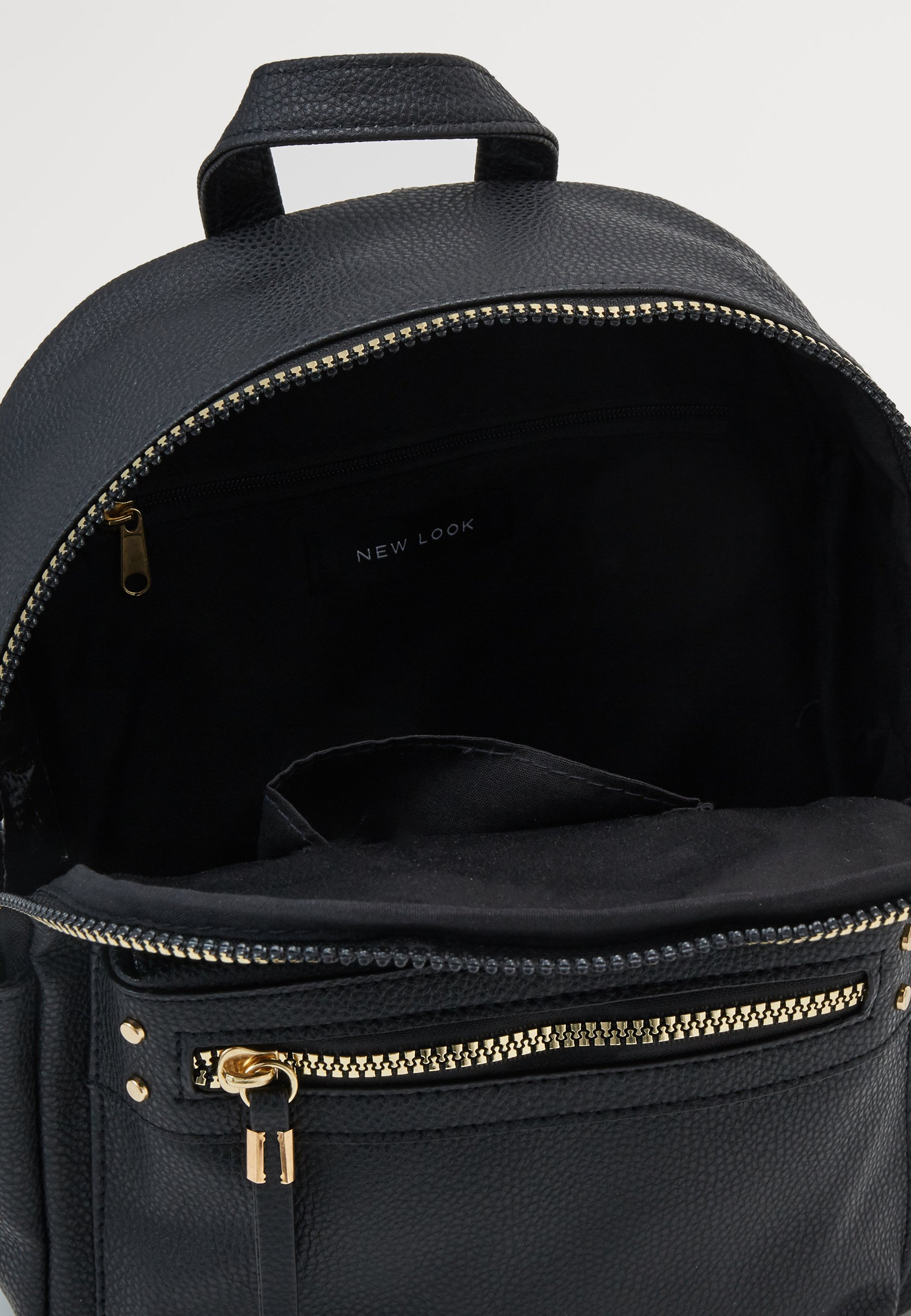 New Look PHILIPPA MINI BACKPACK - Ryggsekk - black/svart Q3lIx5cV3AAiyq4