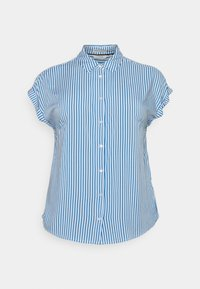 MY TRUE ME TOM TAILOR - SHORT SLEEVE - Button-down blouse - marina/white - 0