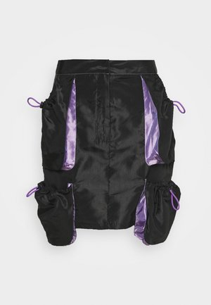 SKIRT GUSSETS - Mini skirt - black/purple