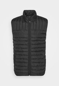 QUILTED - Waistcoat - black